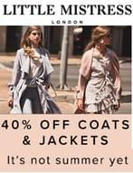 40% off Coats & Jackets at LITTLE MISTRESS