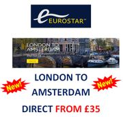 London to Amsterdam Direct - in under 4 Hours by Eurostar. NEW DIRECT SERVICE!