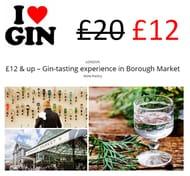 40% off Gin Tasting in Borough Market, LONDON.