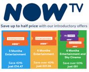 NOW TV Introductory Offers - save up to HALF PRICE. One off Payment NO CONTRACT