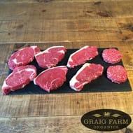 Organic Beef Steak Box Reduced Price