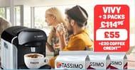 Tassimo Vivy Coffee Machine Bundle Deal