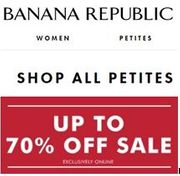Are You PETITE? Shop ALL Petites at Banana Republic - up to 70% OFF