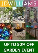 Up to 50% off GARDEN STUFF! Furniture, BBQ, Lights, Planters & MORE