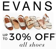 EVANS Shoe Sale is on NOW!