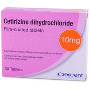 4 X Cetirizine 10mg Tablets - 30 Tablets Free Delivery