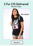 Women's Tops 2 for £15 Delivered
