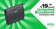 Unlimited Broadband, FREE Line Rental and FREE Router for £19.99 per Month!