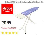 SAVE £33. Large Brabantia Ironing Board (Size C) for Steam Generators