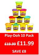 40% off Play-Doh 10 Pot Set at Amazon! save £8. Was £19.99 NOW £11.99