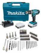 Makita 18V Li-Ion Cordless G-Series Combi Drill & 74 Piece Accessory Set