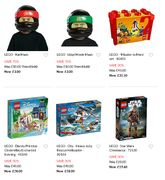 Up to 70% off Lego Items plus Free £5 Voucher When You C+C