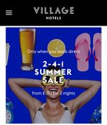 2 for 1 at the Village Hotels This Summer