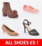 ALL SHOES £5!  Amazing but True!