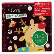 The Spirit of Christmas Pack of 20 Kids Mini Christmas Cards