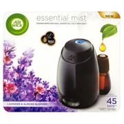 Air Wick Essential Mist Diffuser Kit Lavender and Almond Blossom