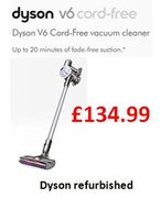 Absolute Cheapest UK Price Dyson V6 Cord-Free? £134.99 Refurbished from DYSON!