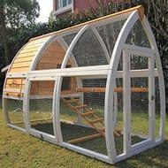 Chicken Coop Hen House Poultry Nest Box Ark Rabbit Hutch Run
