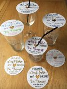 Don't Take My Drink Glass Coaster! Fab for Weddings!