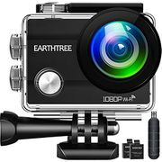 Earthtree Action Camera FHD 1080P 12MP Underwater Cam WiFi Sports Camera