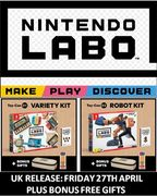 Nintendo Labo is out Now! plus BONUS GIFTS from NINTENDO