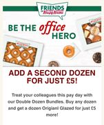 Add a Second Krispy Kreme Dozen for Only £5!
