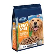 HiLife Feed Me Dry Dog Food Turkey Chicken and VegVeg with Bacon 1.5kg