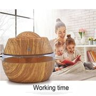 Spritumn 300ml Wood Grain Ultrasonic Humidifier Portable Air Aroma