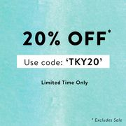 20% off Everything excluding Sale at Tokyo Laundry with Code