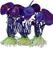 3x Aquarium Purple Decoration Plants for Fish Lover