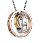 """Mom, I Love You. Always Be with You"""" Necklace"""