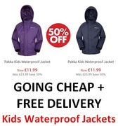 Kids Waterproof Jackets - Half Price & Free Delivery This Weekend Only