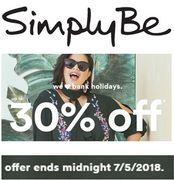 30% off at Simply Be This Weekend!