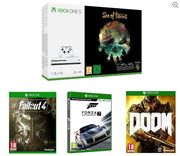 BUNDLE DEAL! Xbox One S, Sea of Thieves, Forza Motorsport 7, Fallout 4 & Doom