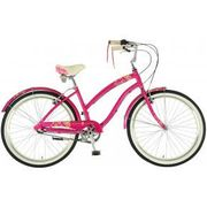 Dawes Strawberry 2017 British Cruiser Ladies Hybrid Bike Pink