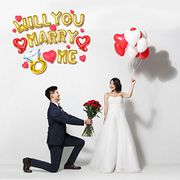 Will You Marry Me ? Foil Balloons with Promo Button