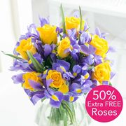 50% EXTRA FREE ROSES + FREE DELIVERY at Flying Flowers!