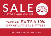 Clarks 50% Sale with an Extra 10% off with Code