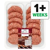 Tesco 12 1/4Lb Beef Burgers 1362G