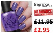 OPI CLEARANCE at Fragrance Direct - Nail Varnish Was £11.95 Now £2.95