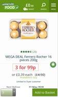 3 16 Piece Ferrero Rocher Boxes for 99p
