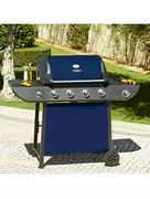 Uniflame 4 Burner and Side Gas Barbecue - Blue