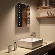 Modern Slim Illuminated Battery LED Bathroom Mirror