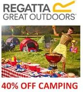40% off CAMPING at Regatta!
