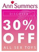 30% off ALL SEX TOYS & LINGERIE at Ann Summers - Moregasm!