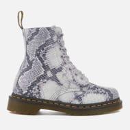 Dr. Martens Women's Pascal Snake 8-Eye Boots
