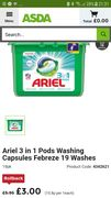 Ariel 3 in 1 Box of 19 Pods