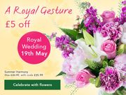 Celebrate the Royal Wedding with £5 Off*
