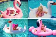 TOO CUTE!! Inflatable Kids' Ring - Flamingo or Swan!