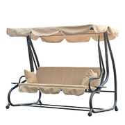 Outsunny Swinging 3 Seater Garden Swing Seat Chair Bench Luxury +2 Free Pillows